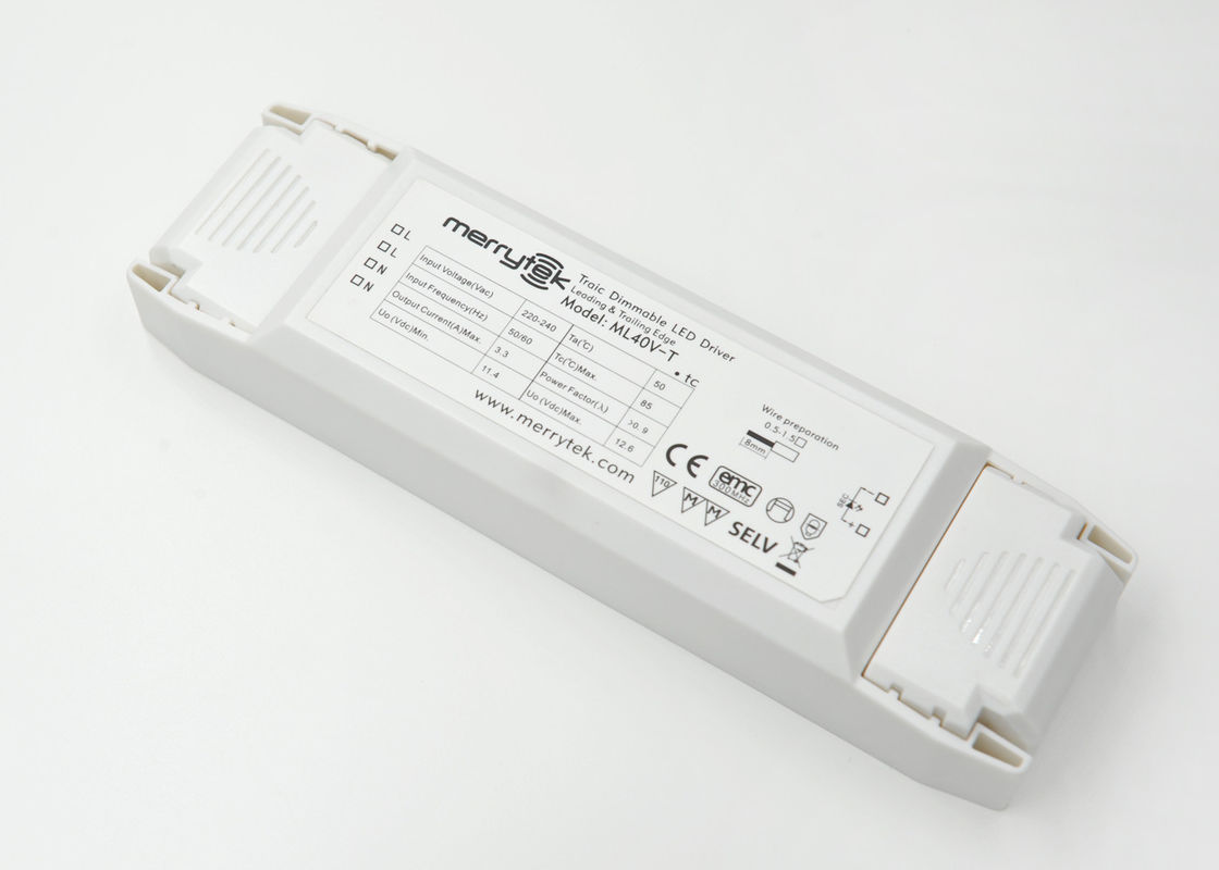 IP20 Warterproof Constant Voltage Dimmable LED Driver 12V 40 Watt